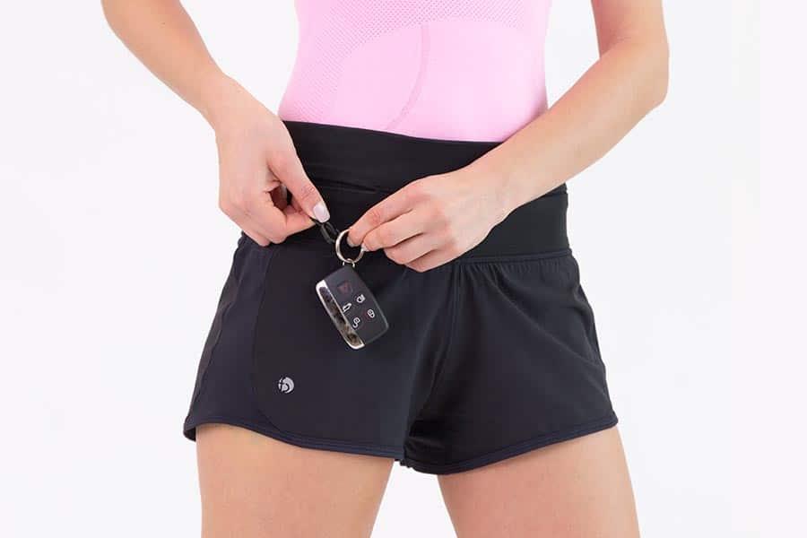 flipbelt shorts nycklar